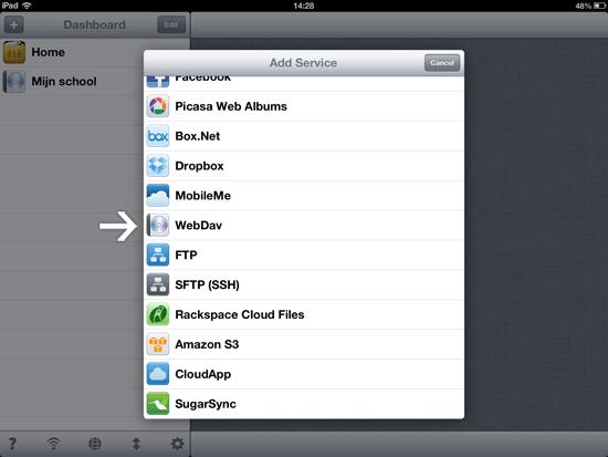 WebDAV in iFiles