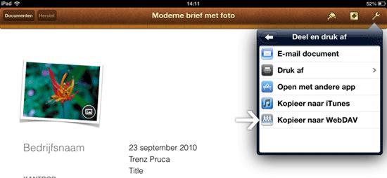 WebDAV met Pages