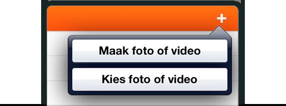 Toevoegen foto's en video's in nieuwe berichten
