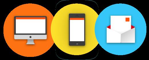 Meldingen in Browser Smartphone Mail