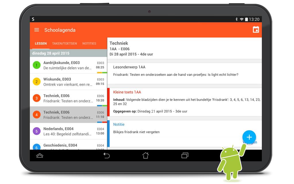 Smartschool schoolagenda op Android