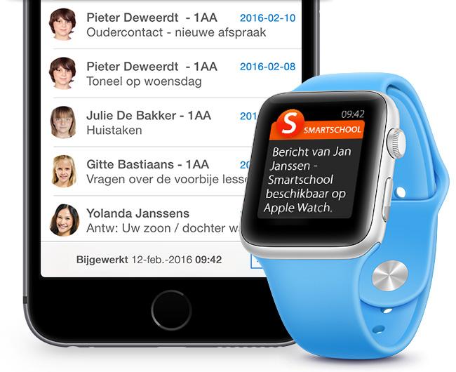 Smartschool notificatie op Apple Watch