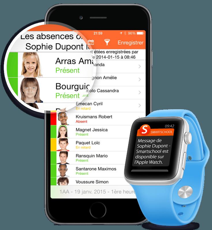Smartschool App and Watch