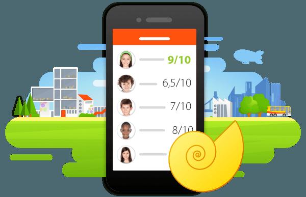Skore puntenboek op smartphone