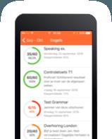 Smartphone met puntenboek