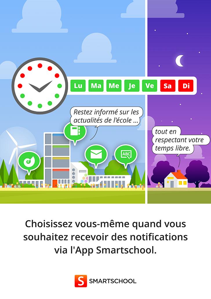 Affiche 10 Choisissez vous-même quand vous souhaitez recevoir des notifications via l'App Smartschool