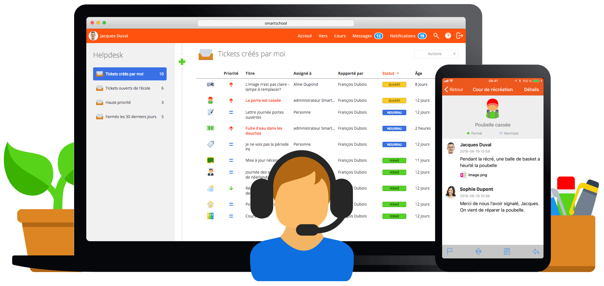 Helpdesk Smartschool