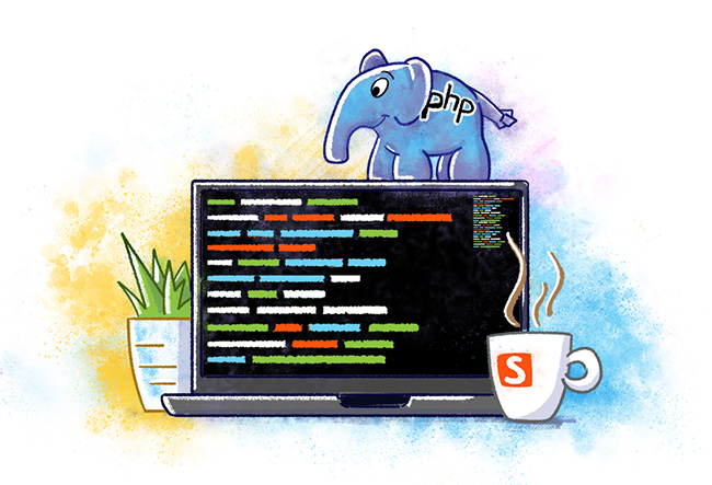 PHP Developer Illustration