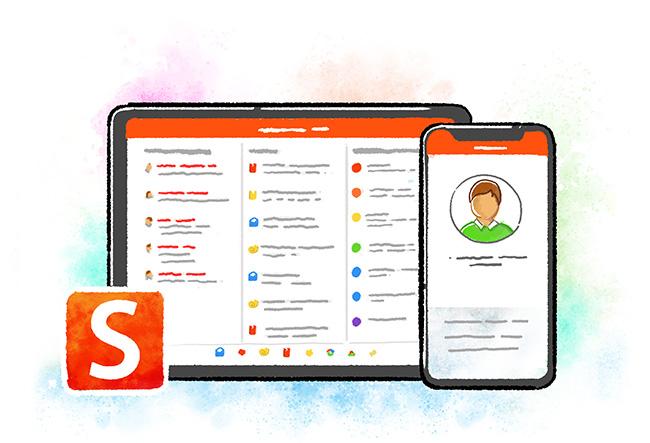 Smartschool App on tablet and smartphone